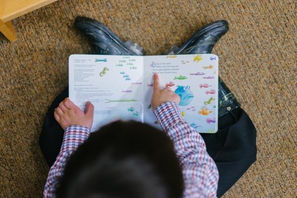 Adorable book boy 1250722